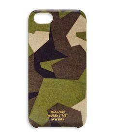 M90 Camo iPhone 5 hard case - Jack Spade. Love the geometric camo stylings here.