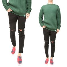 슬림 크롭 블랙진 NEED Slim NEED 니드 [NEED] Slim Crop Black Jeans Black