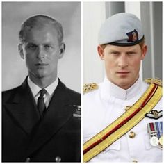 Prince Philip & Prince Harry...I had no idea they look so much like each other!