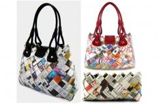 bags from newspaper and magazines