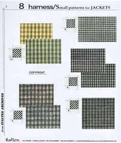 one page from the @italtex textile technical book 8 Harness small patterns for Jackets Vol. 2 (scheduled via http://www.tailwindapp.com?utm_source=pinterest&utm_medium=twpin)