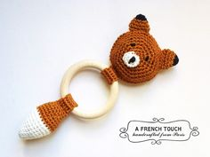 Baby rattle Mr Fox