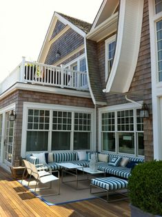 Adjacent Windows W Second Story Balcony Love It All Sans The Shake Outdoor Patio Deck Inspiration Posted On Daily Milk