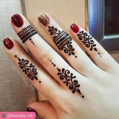 Henna design for fingers by @hennaby_mk ------------------------------------… Easy Mehndi Designs, Henna Hand Designs, Mehandi Designs, Mehndi Designs Finger, Mehndi Designs For Girls, Mehndi Designs For Beginners, Mehndi Designs For Fingers, Latest Mehndi Designs, Bridal Mehndi Designs