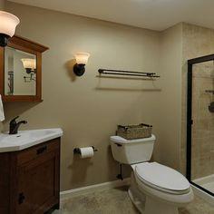 Tan Bathroom Tiles And Paint
