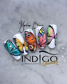 Photo shared by 🦄💗Marty Nails Roma 💅🏼🦄 on May 2017 tagging and Butterfly Nail Designs, Butterfly Nail Art, Love Nails, Pretty Nails, Sculpted Gel Nails, Nail Lab, Indigo Nails, Minimalist Nails, Cool Nail Designs