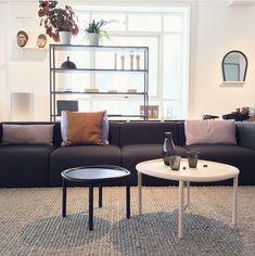 New Order shelf / Mags sofa / Serve table / Bent wood mirror