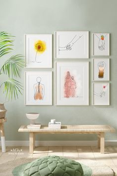 Get this entire collection of simplistic line art prints to create a wall gallery in your home or office.