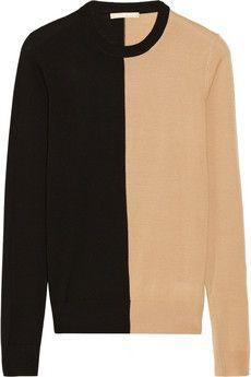 Michael Kors Two-tone merino wool sweater | NET-A-PORTER