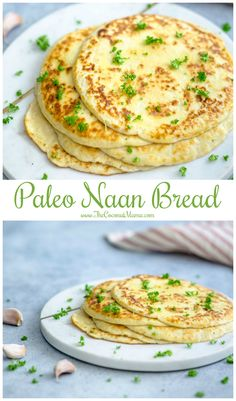 Garlic Paleo Naan Bread Recipe - The Coconut Mama - Recipes Keto Bread Coconut Flour, Keto Banana Bread, Best Keto Bread, Coconut Flour Recipes, Coconut Oil, Almond Flour, Almond Bread, Tapioca Bread Recipe, Recipe Breadmaker