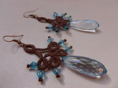 Cedar tree  tatting  earrings by JoannaArt77 on Etsy, $12.00