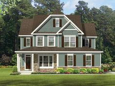 ePlans Colonial House  Plan – Delightful Colonial Four Bedroom – 2511 Square Feet and 4 Bedrooms from ePlans – House Plan Code HWEPL77070