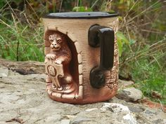 Beer mug or other drinks with the figure of the lion. от NovaHata