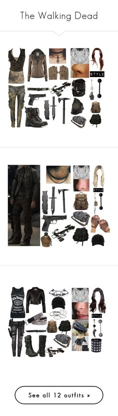 """""""The Walking Dead"""" by cassidyoloughlin ❤ liked on Polyvore featuring Forever 21, Switchblade Stiletto, Wet Seal, Balmain, RED Valentino, Castro NYC, AllSaints, VIPARO, Lancer Dermatology and Smith & Wesson"""