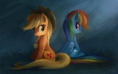 AppleJack and Rainbow Dash - SpeedPaint #1 by aJVL on DeviantArt
