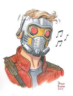 Star-Lord by Paolo Rivera #PaoloRivera #PeterQuill #StarLord #GuardiansoftheGalaxy #Avengers #Ravagers #UnitedFront #Shi'arImperialGuard #HalfHumanHalfSpartoi