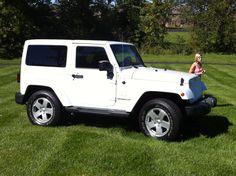 White Jeep Wrangler Sahara. Booley's new ride <3