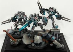 40k - Tau Battlesuits and Commander Shas'O R'Alai