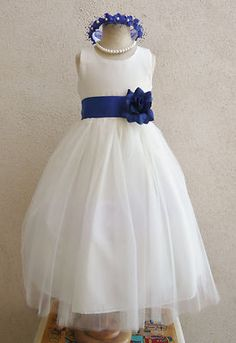 Flower girl dress idea. But with a burnt orange sash and fresh flowers in their hair!