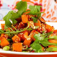 roasted butternut squash salad with soy balsamic dressing