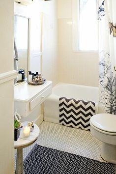 comment bien aménager une jolie salle de bain avec baignoire blanche