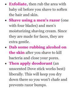 shaving bikini area …
