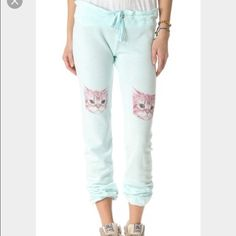 Looking For Wildfox party cat SWEATPANTS Looking for these in xs.. Or a small would do too! Already have the top.. Wildfox Pants Track Pants & Joggers