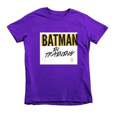 Batman In Training Fly Tots Short sleeve kids t-shirt white graphic