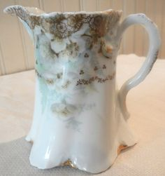 R.C. Versailles Bavaria Porcelain Creamer Pitcher With Handpainted Flowers