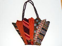 sew, recycl, idea, men tie, tie tote, neckti craft, krawat, repurpos, neckti project