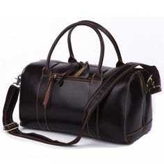 Vintage Handmade Leather Travel Bag / Tote / Messenger Bag / Overnight Bag