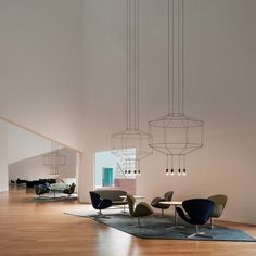 Defined by its bold geometric form and illusory composition, the Wireflow 3D Octagonal Pendant Light is a sculptural luminaire that reinterprets the idea of the classic chandelier.