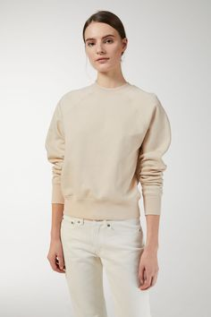 Part of the Jersey Yarn Project, this crew-neck sweatshirt is custom-knit from a smooth, compact and naturally whiter extra-long staple cotton, collected f
