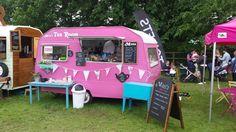 Thank you Patti @MimiandMavis Mavis looks a vision in #Pink :) xx #vintage #streetfood #caravan