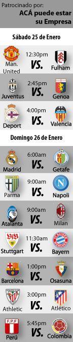Fútbol recomendado para este fin de semana: 26 al 27 de Enero    http://blogueabanana.com/deportes/91-futbol/906-futbol-recomendado-26-al-27-de-enero.html