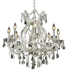 """Karla - Hanging Fixture (9 Light Traditional Hanging Crystal Chandelier) - 2380D26  ➤ Dimensions: W/D 26"""" x H 26"""""""