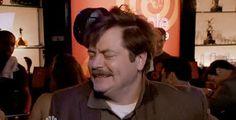 Drunk Ron Swanson.  <3