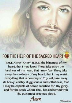Prayer to the Sacred Heart of Jesus. Prayer Scriptures, Bible Prayers, Faith Prayer, Catholic Prayers, God Prayer, Prayer Quotes, Power Of Prayer, Spiritual Prayers, Prayers For Healing