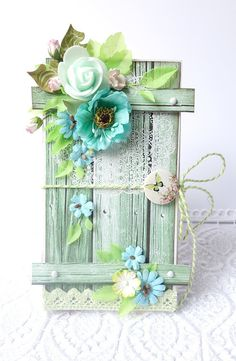 Lemoncraft: Inspiruje Irena: o wiośnie - Inspirations from Irena: about spring Scrapbooking, Scrapbook Cards, Card Tags, Gift Tags, Photo Halloween, Mixed Media Cards, Shabby Chic Cards, Beautiful Handmade Cards, Diy Canvas Art