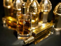 "Guerlain bottles (""salt shakers"" in background)"