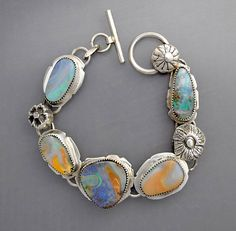 RESERVED for S Five Pastel Opals  Springtime