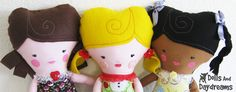 I wanted to share with you some very simple tricks to customize your handmade dolls and softies . By altering just a few details to one pat...