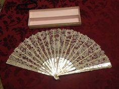 FINAL REDUCTION  Superb Antique Lace Hand Fan from by sdbees1030 RARE MARCHESA GIRLS *3 TIFFANY MOTHER OF PEARL COLLECTION EXTREMELY DELICATE AND VERY RARE XMAS