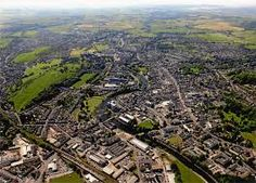 An aerial photo of Kendal, England today Loom Weaving, Hand Weaving, Cumbria, Fiber Art, Kendall, City Photo, England, Wool, Storyboard