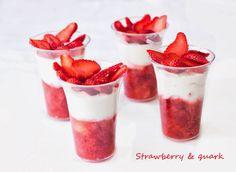 Bez Papriky: Strawberry& quark/ Jahody s tvarohem Panna Cotta, Ethnic Recipes, Blog, Dulce De Leche, Blogging