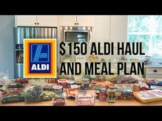 $150 Aldi Grocery Haul + Meal Plan // June 29 2018 // Family of 4 - YouTube Aldi Meal Plan, Grocery Haul, Family Of 4, Meal Planner, Saving Money, June, Weight Loss, Meals, How To Plan