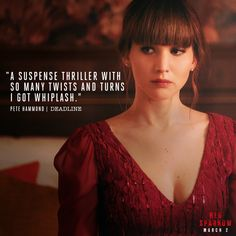 "Critics are raving about Red Sparrow. Experience the ""Suspense thriller"" that is ""full of twists and turns"" in theaters Friday."