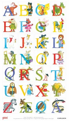 Pixi-alfabet - Plakat Vild med denne - skal have fat i en til ungerne Alphabet Symbols, Alphabet And Numbers, Norse Alphabet, Danish Language, Baby Barn, Drawing Letters, School Decorations, Kids Prints, Alphabet