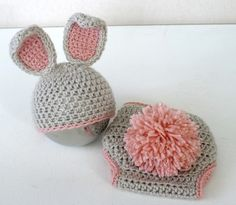 Baby Neugeborene Hasen Mütze und Windel zu decken von JoonBloom