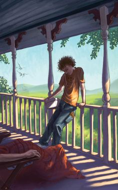 Percy Jackson & The Olympians: Grover on Porch Signed by John Rocco Magnus Chase, Rick Riordan, Camp Half Blood Map, Saga, Grover Underwood, Olympus Series, House Of Hades, Oncle Rick, Sea Of Monsters